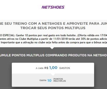 7d7d152dd Multiplus e Netshoes  10 pontos por real gasto